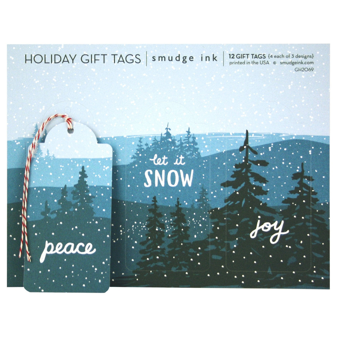 Snowy Mountains Gift Tags