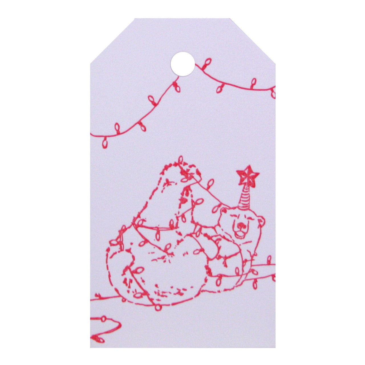 String Lights Bear Gift Tags