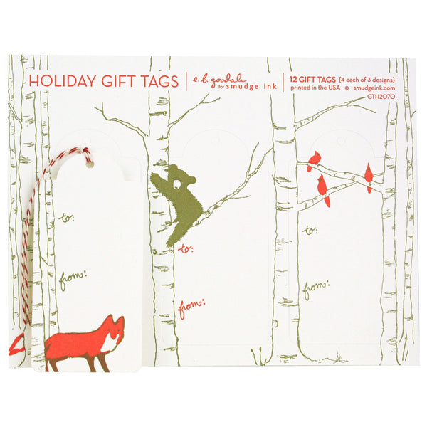 Winter Animals Gift Tags