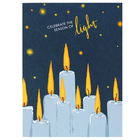 Glowing Candles Hanukah Card