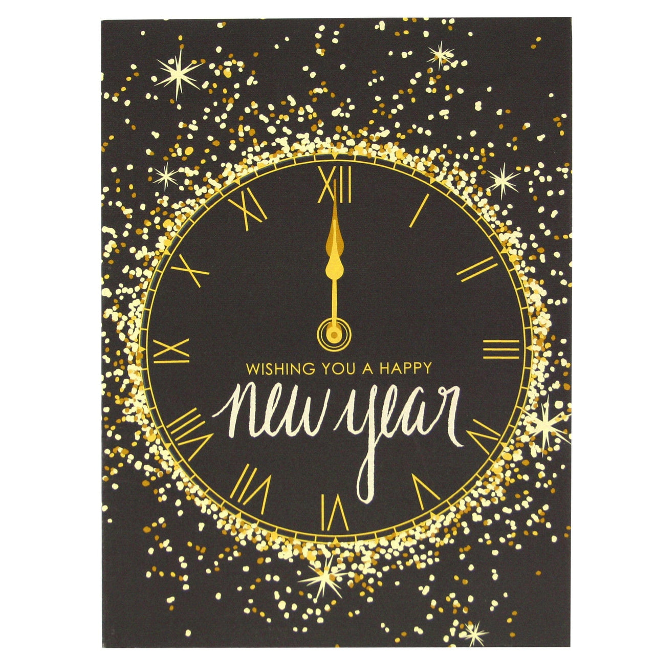 gold and glitter new year card