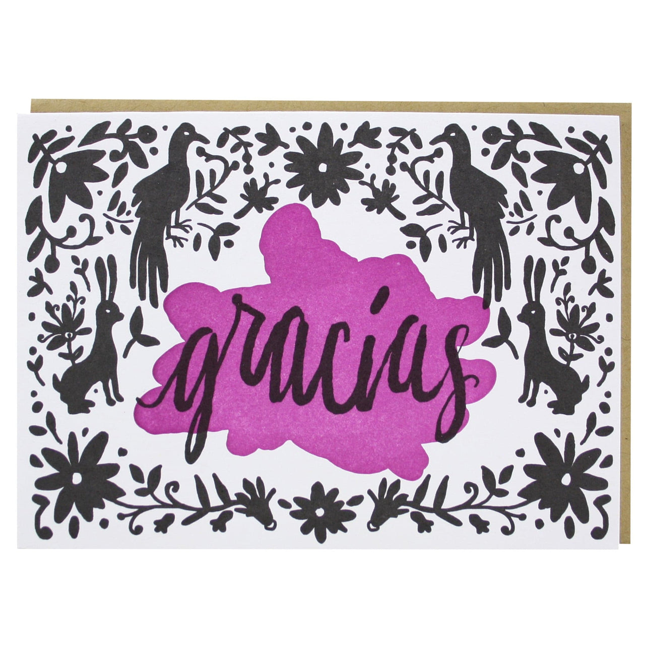 Gracias thank you notes multilingual thank you cards smudge ink gracias thank you card altavistaventures Image collections