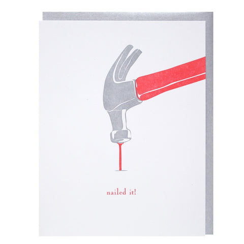 Hammer and Nail Congratulations Card