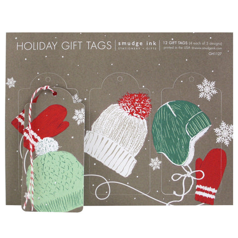 Hats and Mittens Gift Tags