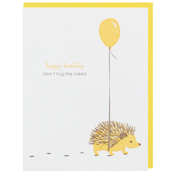 hedgehog with balloon birthday card happy birthday cards