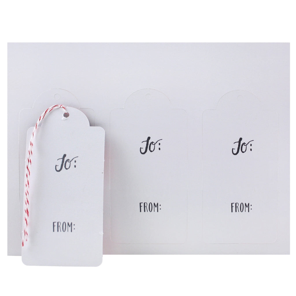 Holiday Bicycles Gift Tags Back
