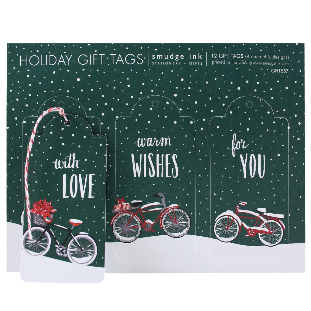 Holiday Bicycles Gift Tags
