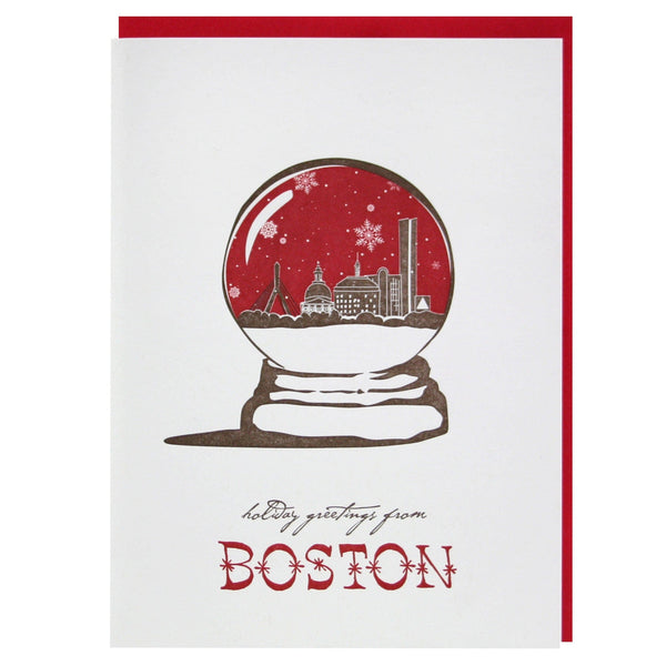Holiday Greetings from Boston Card