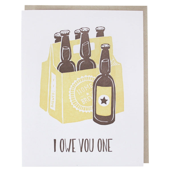 Home Brew Thank You Card