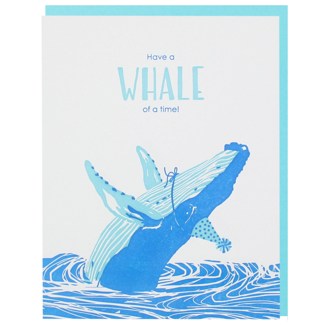 Humpback Whale Birthday Card