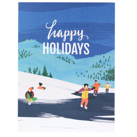 Ice Skating Pond Holiday Card