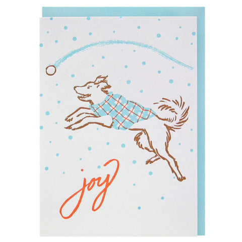 Joyful Pup Holiday Card