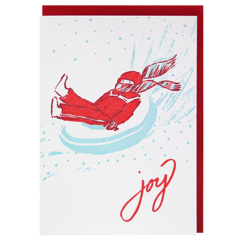 Joyful Sledder Holiday Card