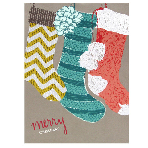 Knit Christmas Stockings Card