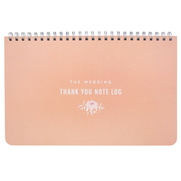 Thank You Note Wedding Gift: Blush Wedding Thank You Note Log