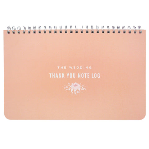 Wedding Thank You Note Log (Blush)