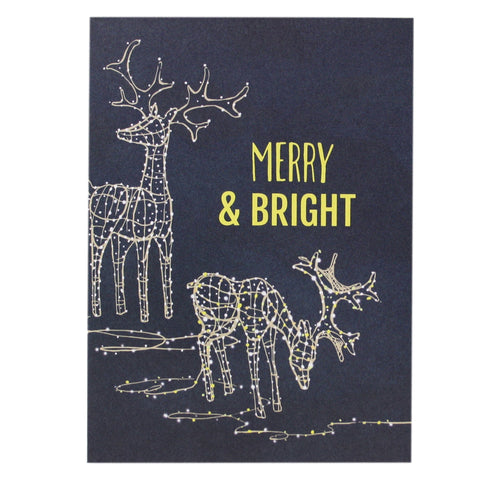 Lighted Reindeer Holiday Card