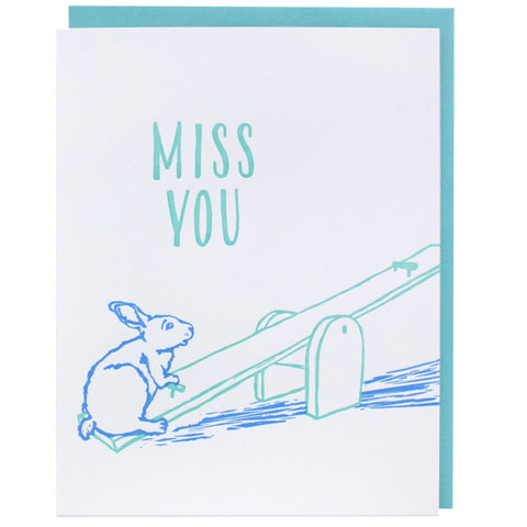 Lonely Seesaw Missing You Card