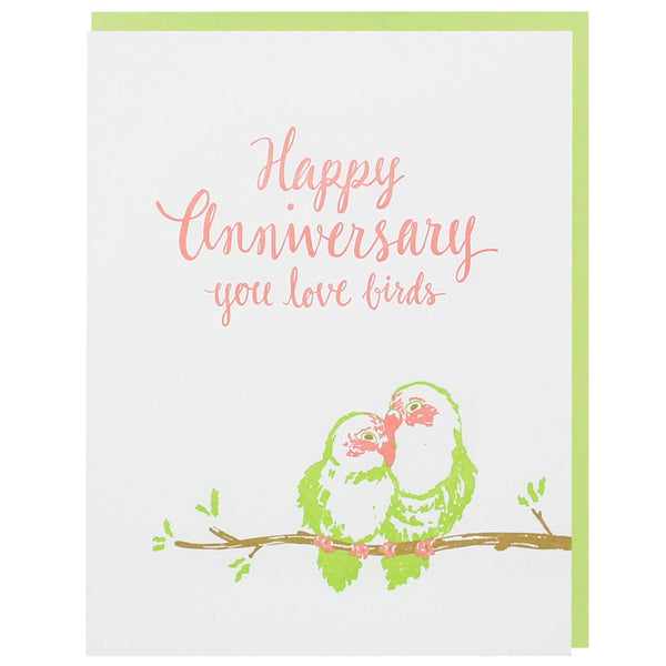 Love Birds Anniversary Card Happy Anniversary Cards