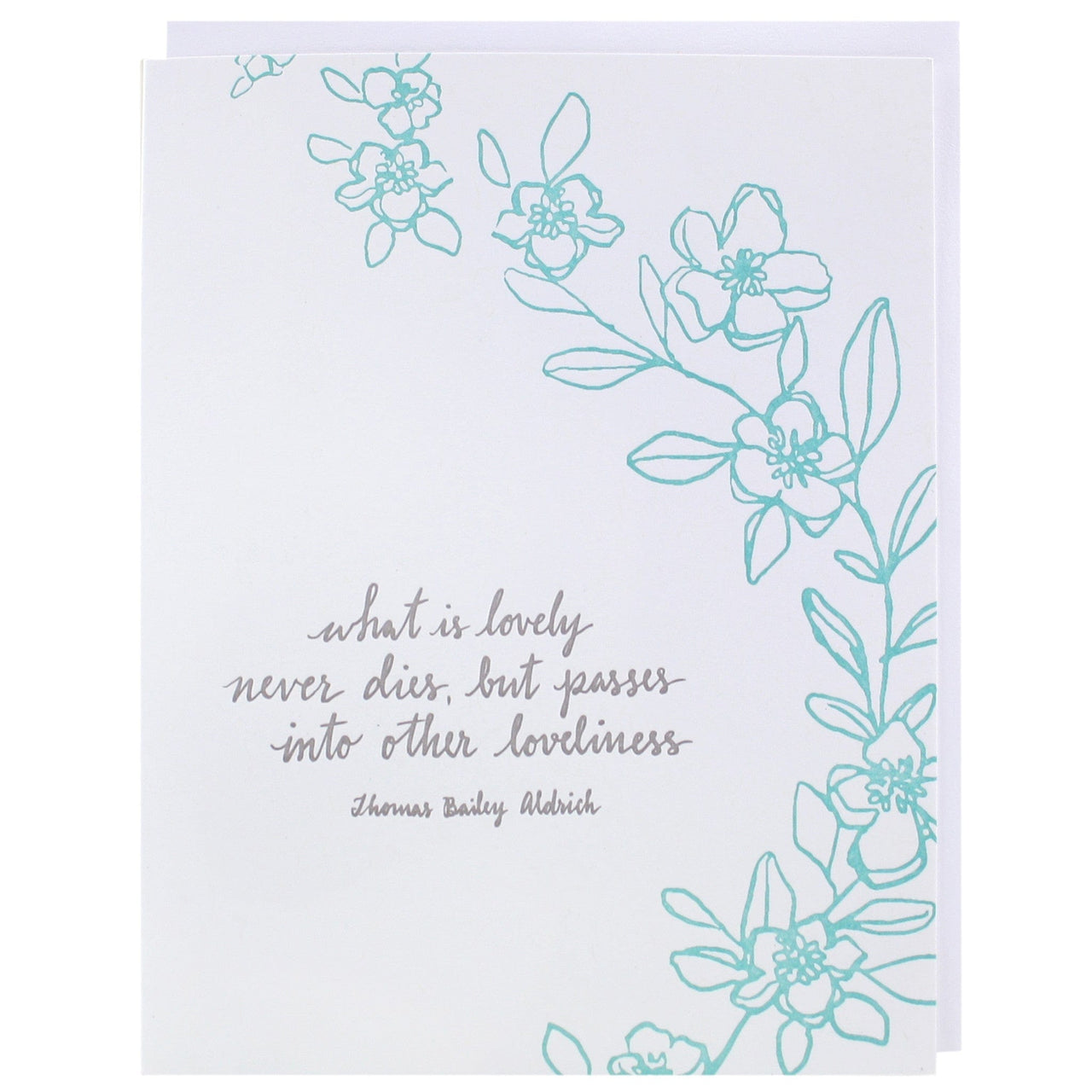 loveliness quote sympathy card - Sympathy Cards