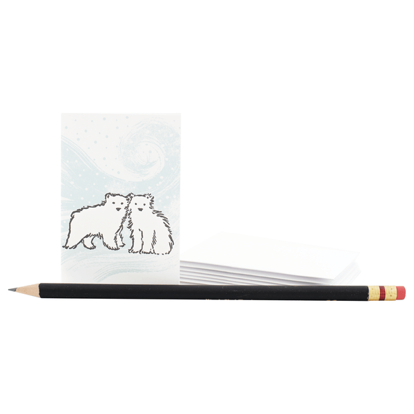 Polar Bear Cubs Holiday Enclosure Card Set