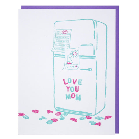 Magnetic Letters Mother's Day Card
