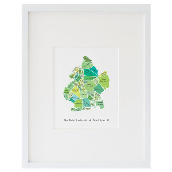 Map of Brooklyn Art Print