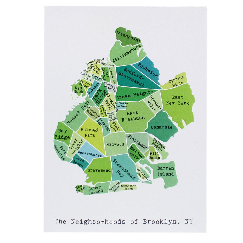Map of Brooklyn Note Card