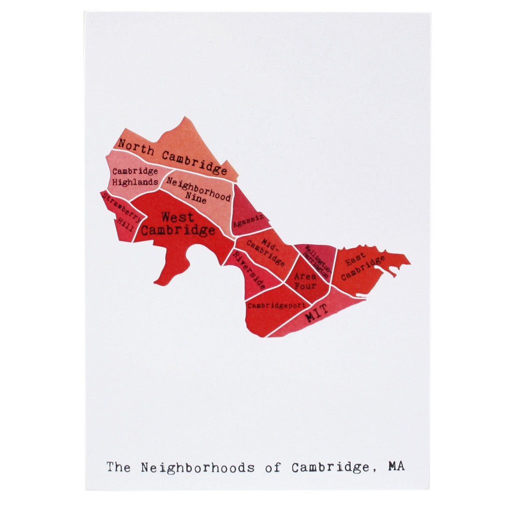 Map of Cambridge Note Card