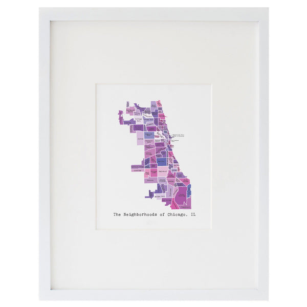 Map of Chicago Art Print