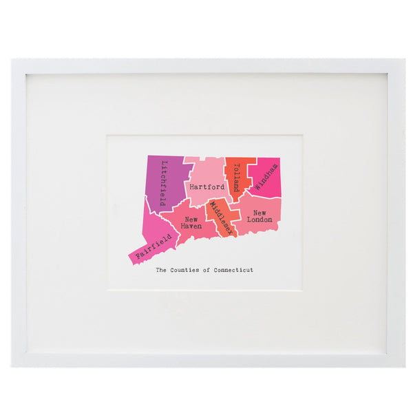 Map of Connecticut Art Print