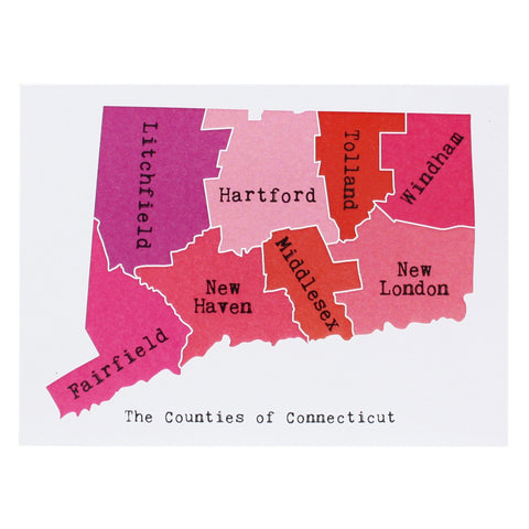 Map of Connecticut Note Card