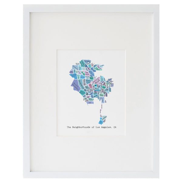 Map of Los Angeles Art Print