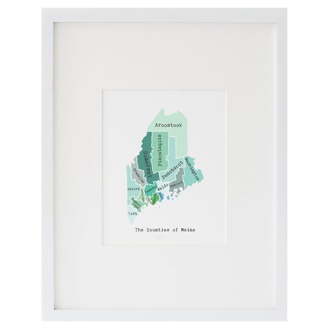 Map of Maine Art Print