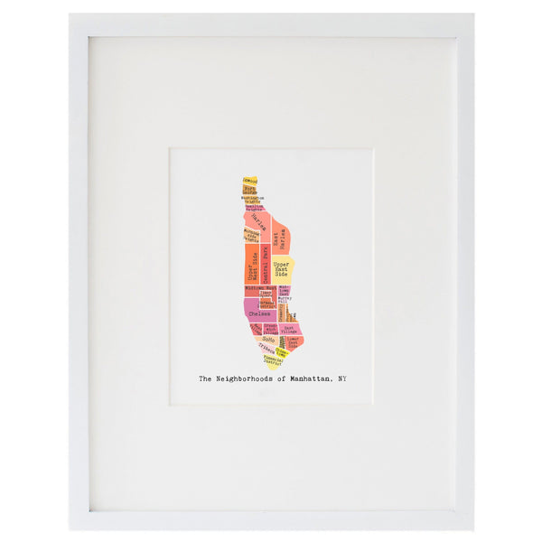Map of Manhattan Art Print