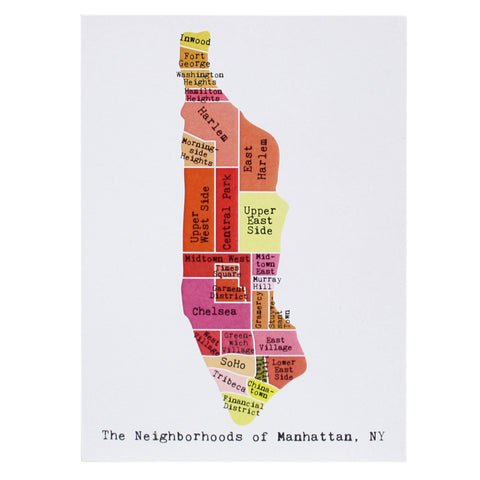 Map of Manhattan Note Card