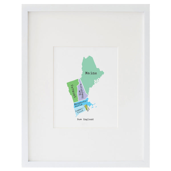 Map of New England Art Print
