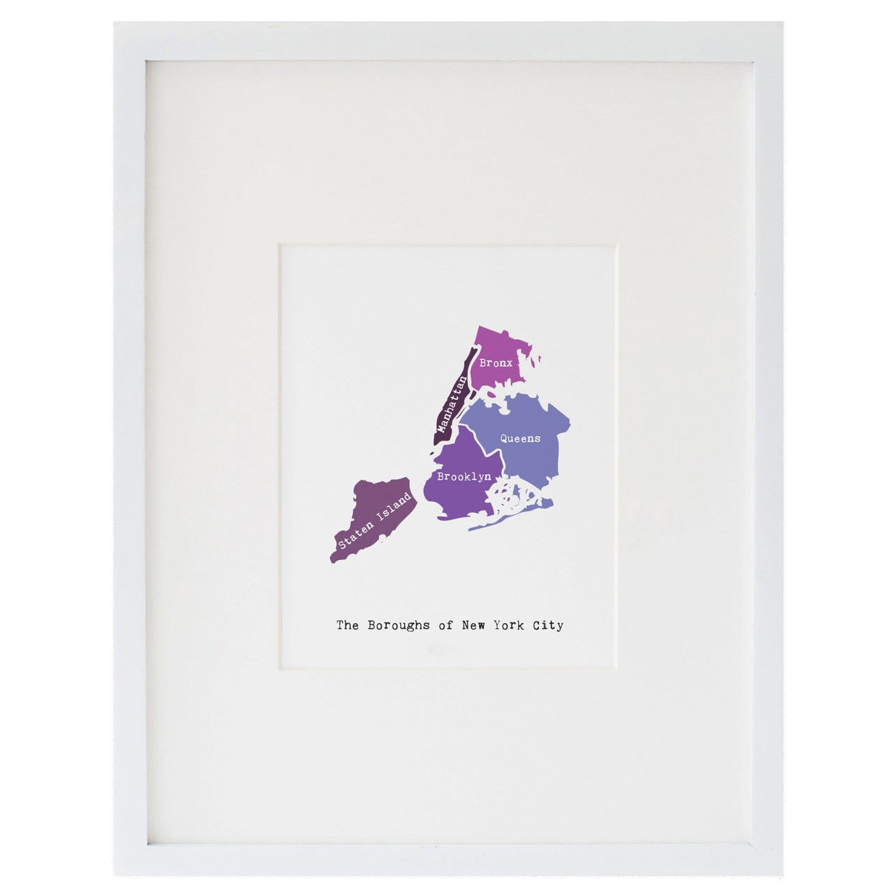 Map of New York City Art Print