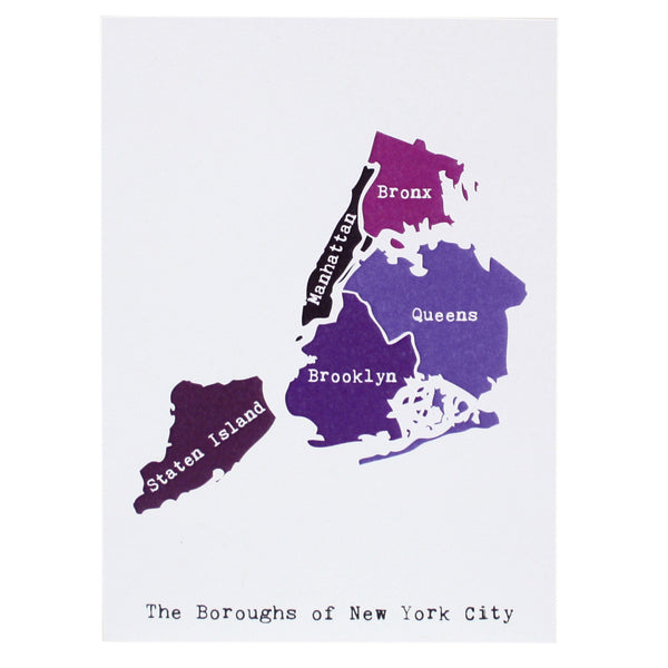 Map of New York City Note Card