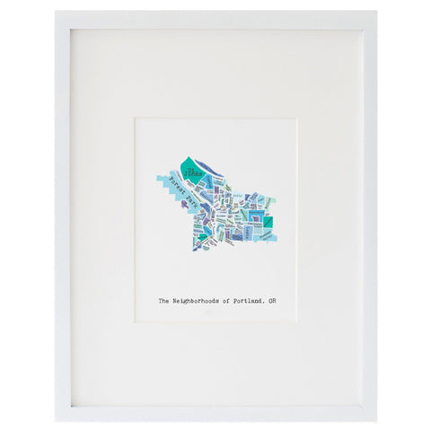 Map of Portland Art Print