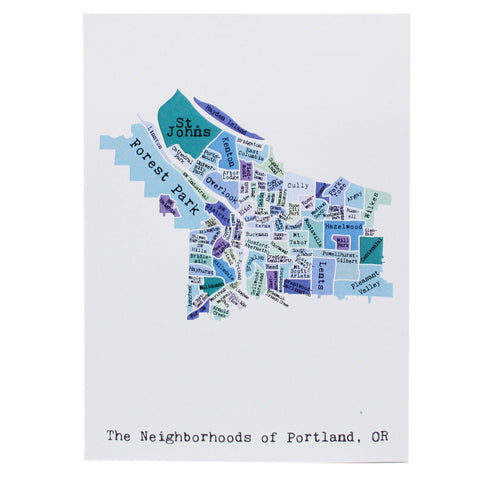 Map of Portland Note Card