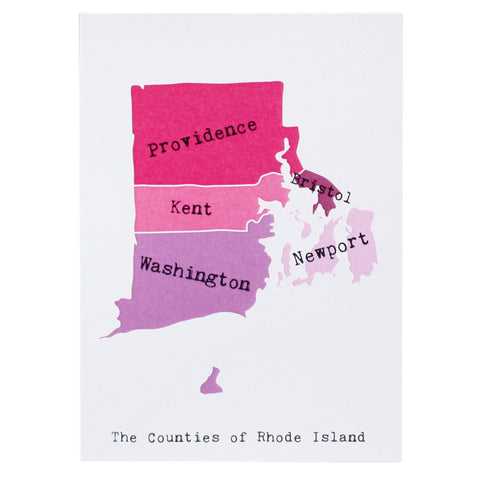 Map of Rhode Island Note Card