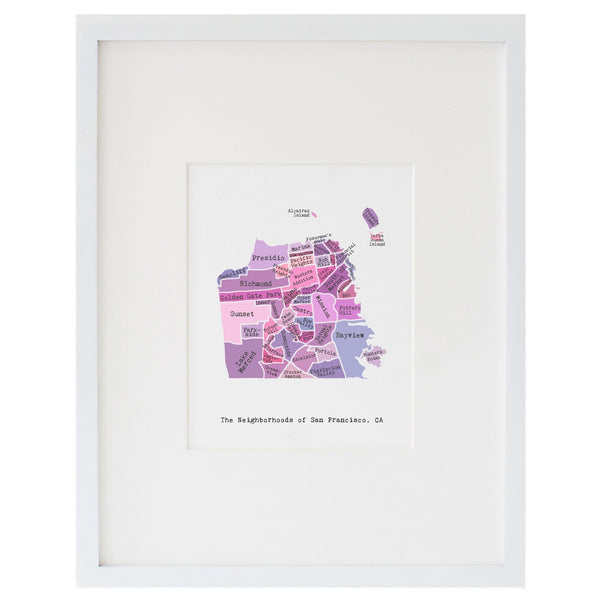 Map of San Francisco Art Print