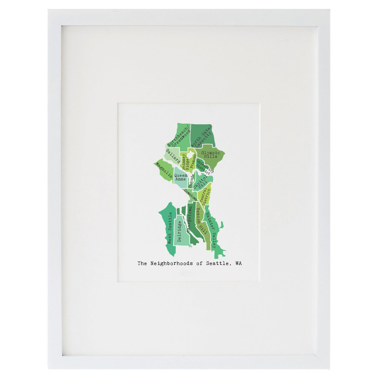 Map of Seattle Art Print April May Smudge Ink smudgeinkcom