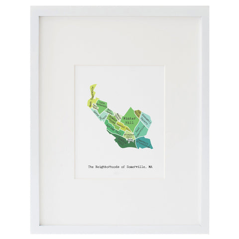 Map of Somerville Art Print