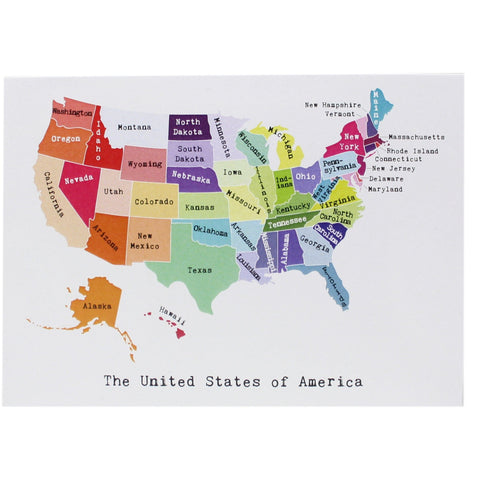 Map of the United States Note Card