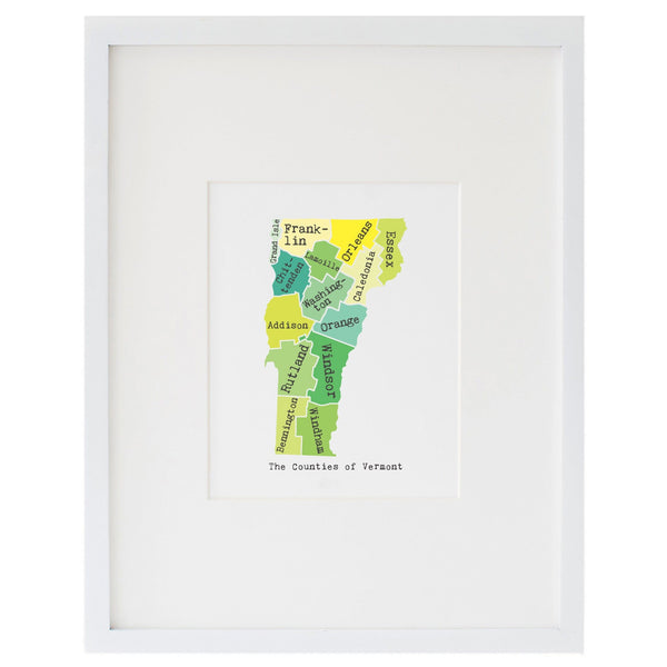 Map of Vermont Art Print