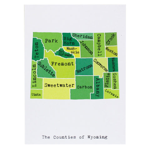 Map of Wyoming Note Card