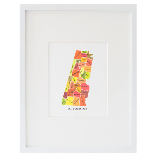Map of the Berkshires Art Print