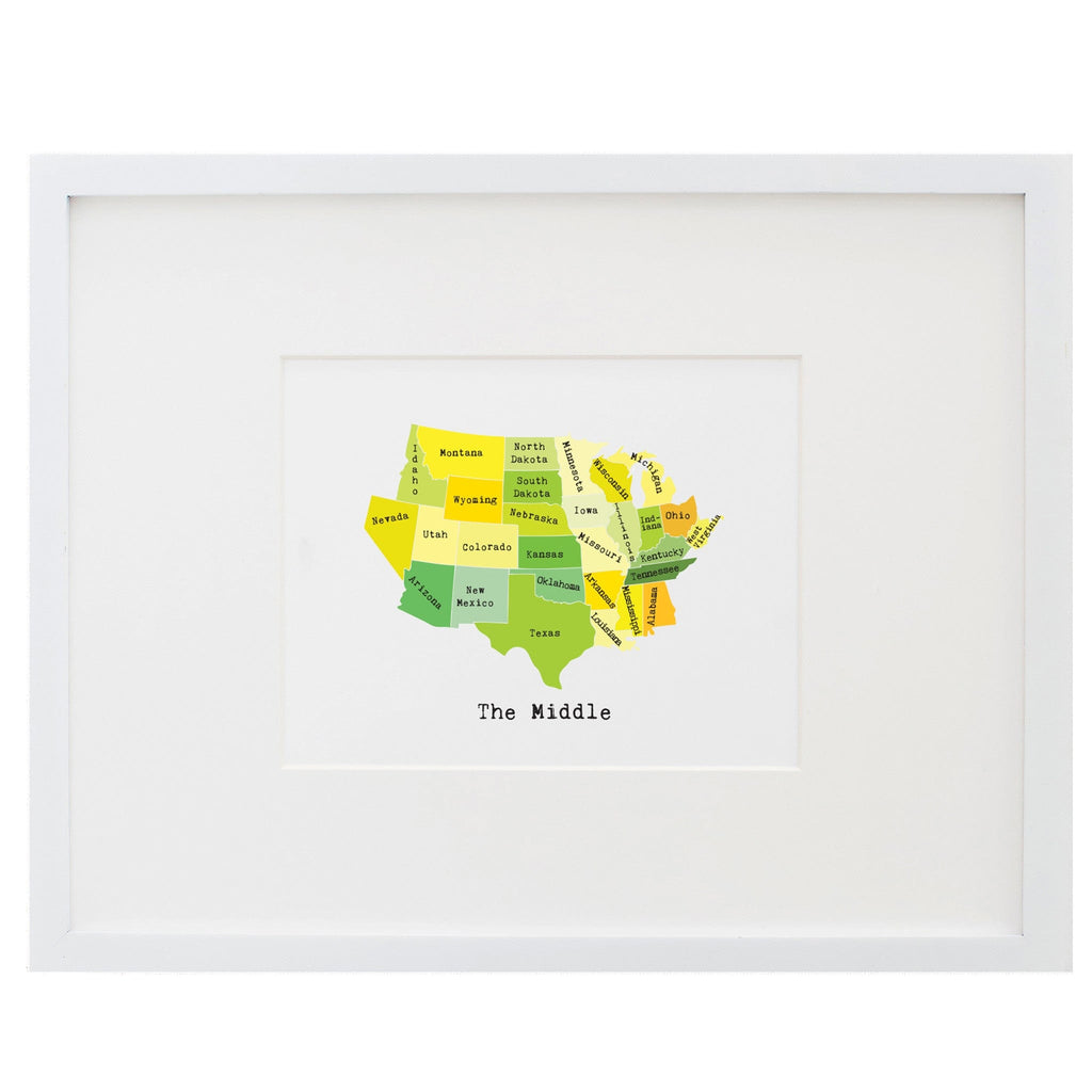 Map of the Middle States Art Print
